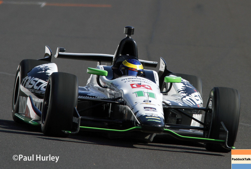 May 17:  Sebastien Bourdais during qualifications for the Indianapolis 500.