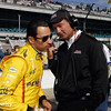 May 17: Helio Castroneves and Tim Cindric during qualifications for the Indianapolis 500.