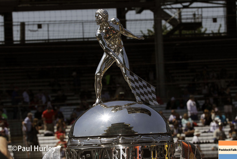 May 18: The Borg-Warner trophy during qualifications for the Indianapolis 500.