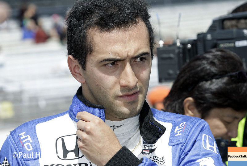 May 17:  Carlos Huertas during qualifications for the Indianapolis 500.