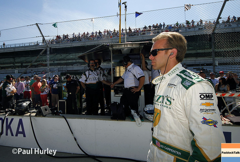 May 23: Ed Carpenter during qualifications for the 98th Indianapolis 500.