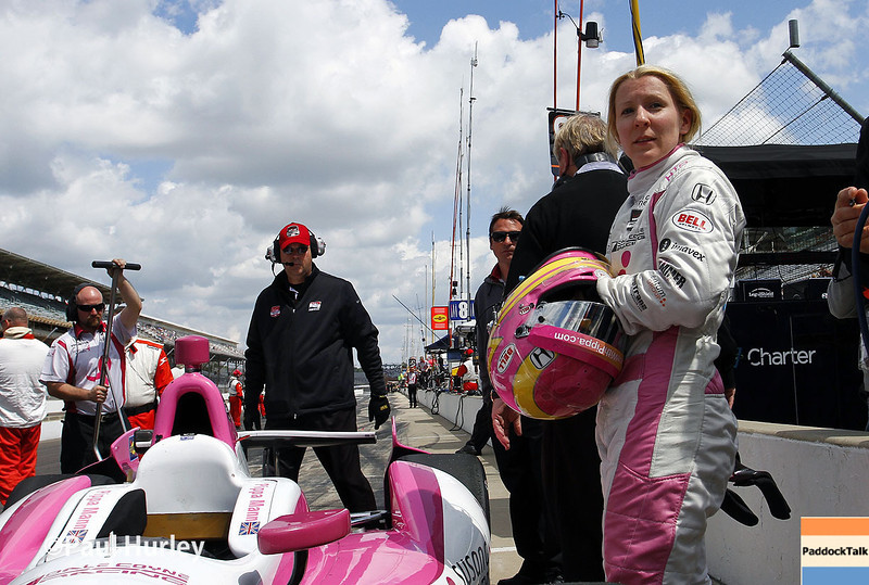 May 17:  Pippa Mann during qualifications for the Indianapolis 500.