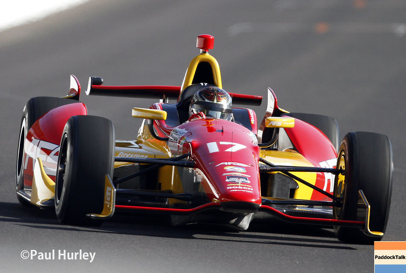 May 18: Sebastian Saavedra during qualifications for the Indianapolis 500.