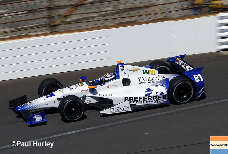 May 23: J.R. Hilldebrand during qualifications for the 98th Indianapolis 500.