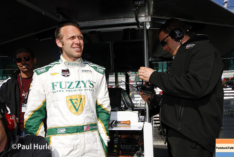 May 17:  Ed Carpenter during qualifications for the Indianapolis 500.