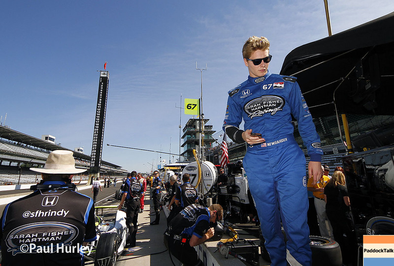 May 23: Josef Newgarden during qualifications for the 98th Indianapolis 500.