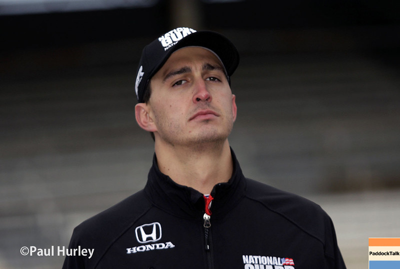 May 17: Graham Rahal during qualifications for the Indianapolis 500.