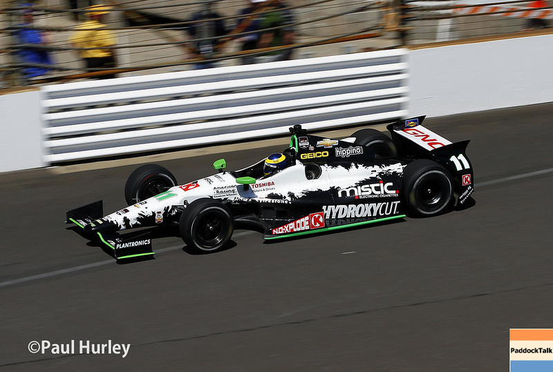 May 23: Sebastien Bourdais during qualifications for the 98th Indianapolis 500.