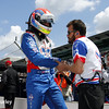 May 17:  Justin Wilson during qualifications for the Indianapolis 500.