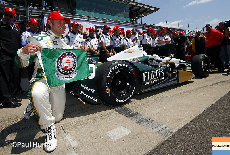 May 18: Ed Carpenter and team after qualifications for the Indianapolis 500.