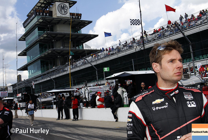May 17:  Will Power during qualifications for the Indianapolis 500.