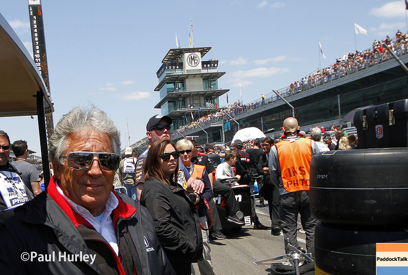 May 18:  Mario Andretti during qualifications for the Indianapolis 500.