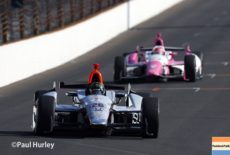 May 18:  Track action during qualifications for the Indianapolis 500.
