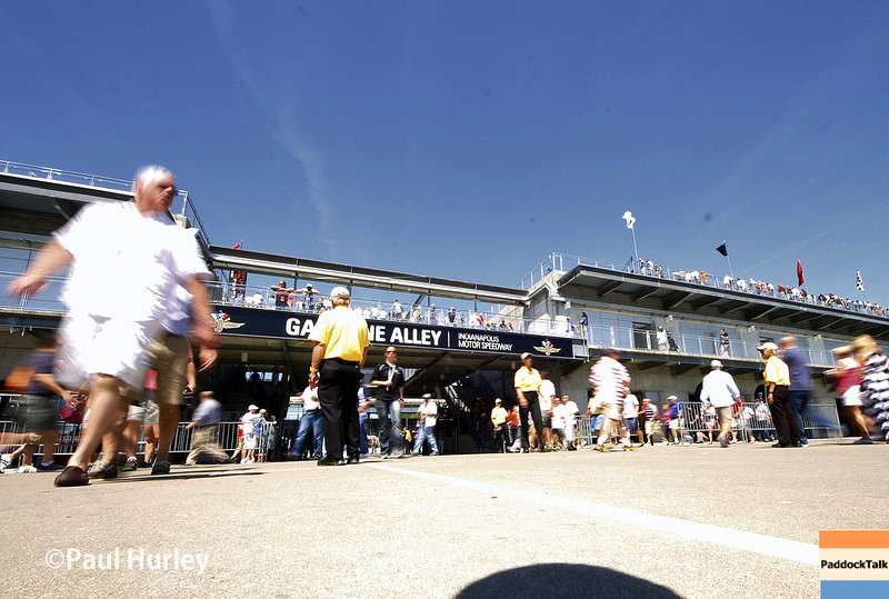 May 23: Gasoline Alley during qualifications for the 98th Indianapolis 500.