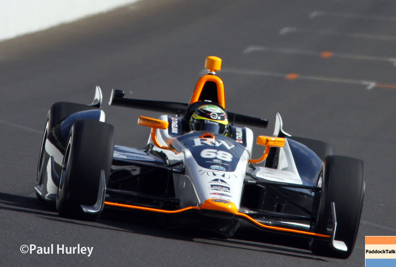 May 17:  Alex Tagliani during qualifications for the Indianapolis 500.