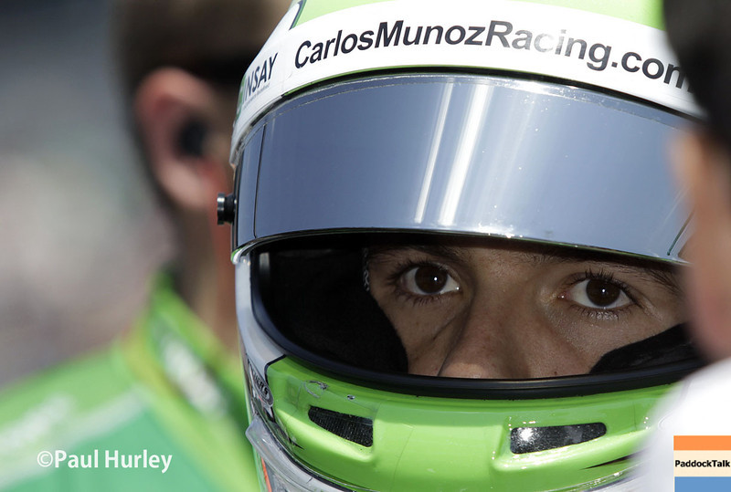 May 18:  Carlos Munoz during qualifications for the Indianapolis 500.
