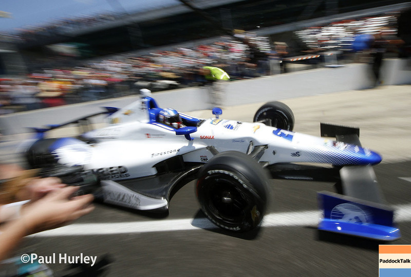 May 18:  Simon Pagenaud during qualifications for the Indianapolis 500.