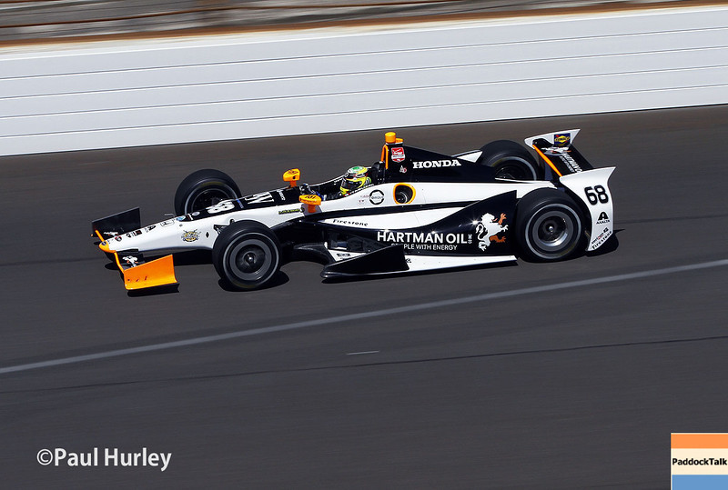 May 23: Alex Tagliani during qualifications for the 98th Indianapolis 500.