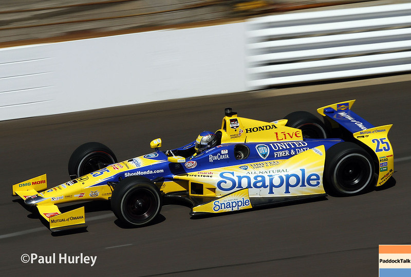 May 23: Marco Andretti during qualifications for the 98th Indianapolis 500.