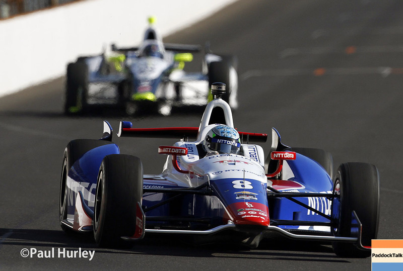 May 18:  Ryan Briscoe during qualifications for the Indianapolis 500.