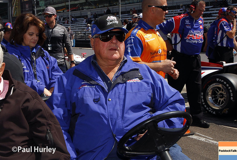 May 18: A.J. Foyt Jr. during qualifications for the Indianapolis 500.