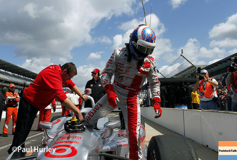 May 17:  Scott Dixon during qualifications for the Indianapolis 500.