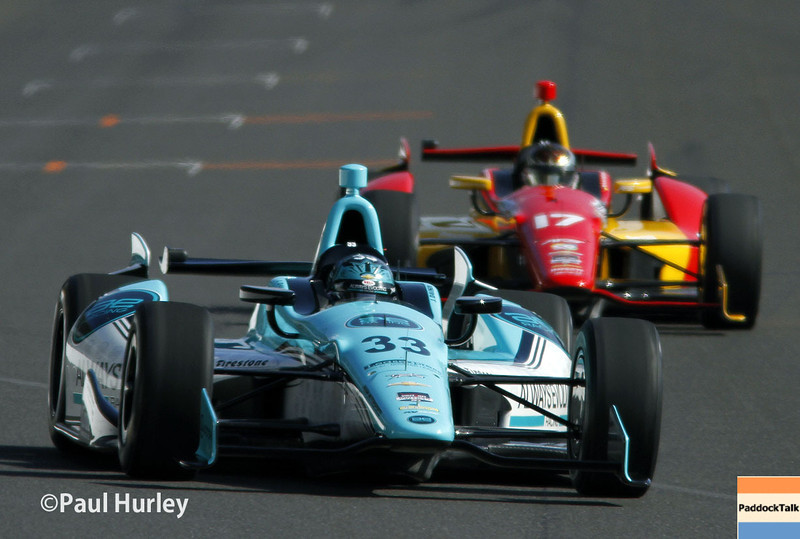 May 17:  James Davison and Sebastian Saavedra during qualifications for the Indianapolis 500.