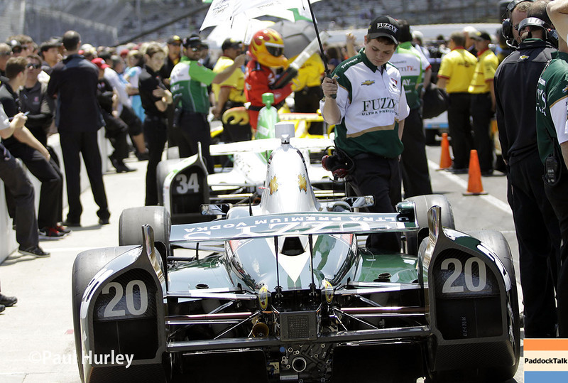 May 18:  Ed Carpenter during qualifications for the Indianapolis 500.
