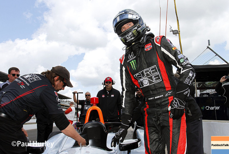 May 17:  Kurt Busch during qualifications for the Indianapolis 500.