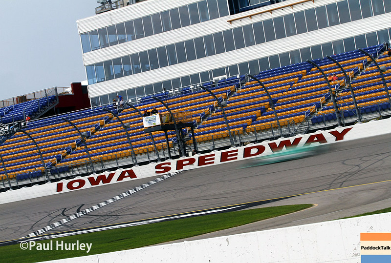July 11: Start/finish line at the Iowa Corn Indy 300.