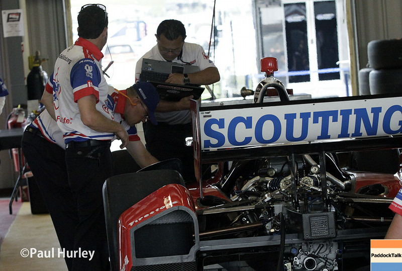 July 11: Justin Wilson's car at the Iowa Corn Indy 300.