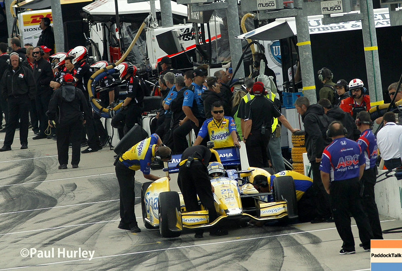 July 11: Pit action at the Iowa Corn Indy 300.