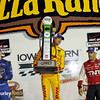 July 12: Winners podium at the Iowa Corn Indy 300.