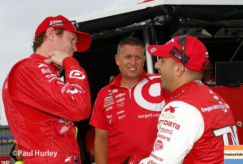 July 11: Scott Dixon and Tony Kanaan at the Iowa Corn Indy 300.