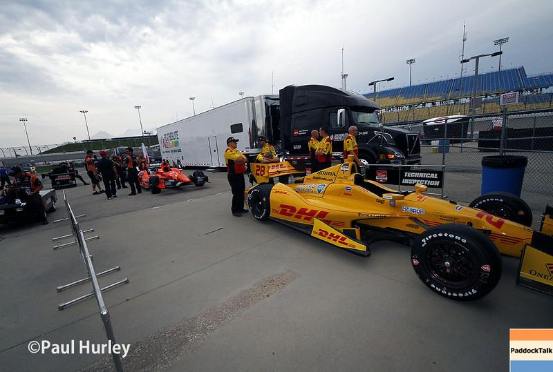 July 11: Ryan Hunter-Reay's car at the Iowa Corn Indy 300.