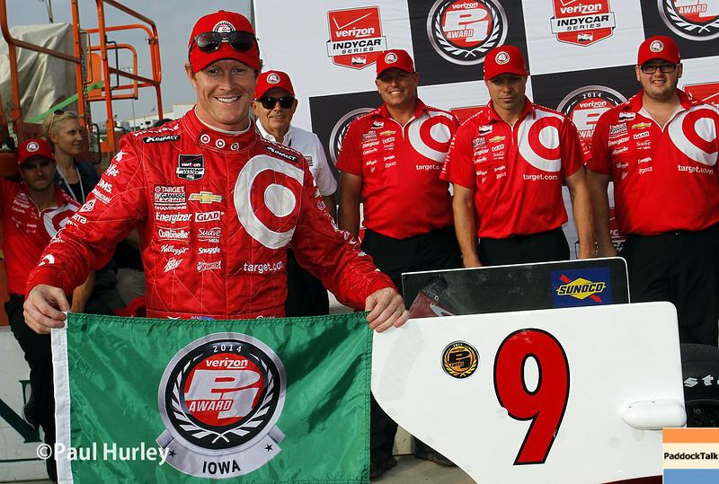 July 11: Scott Dixon, Pole winner, at the Iowa Corn Indy 300.