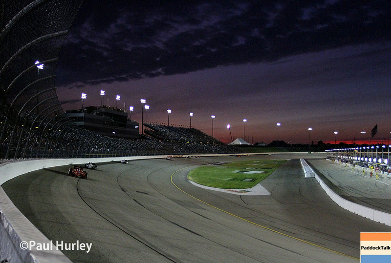 July 12: Sunset at the Iowa Corn Indy 300.