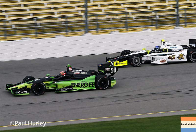 July 11: Jack Hawksworth and Josef Newgarden at the Iowa Corn Indy 300.