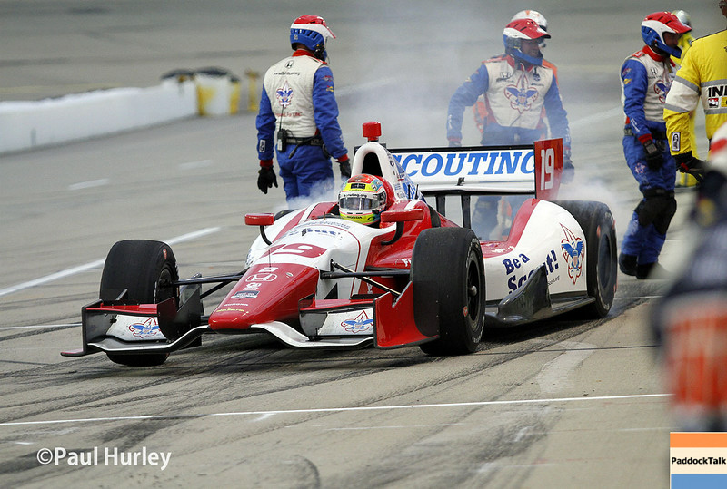 July 12: Justin Wilson at the Iowa Corn Indy 300.