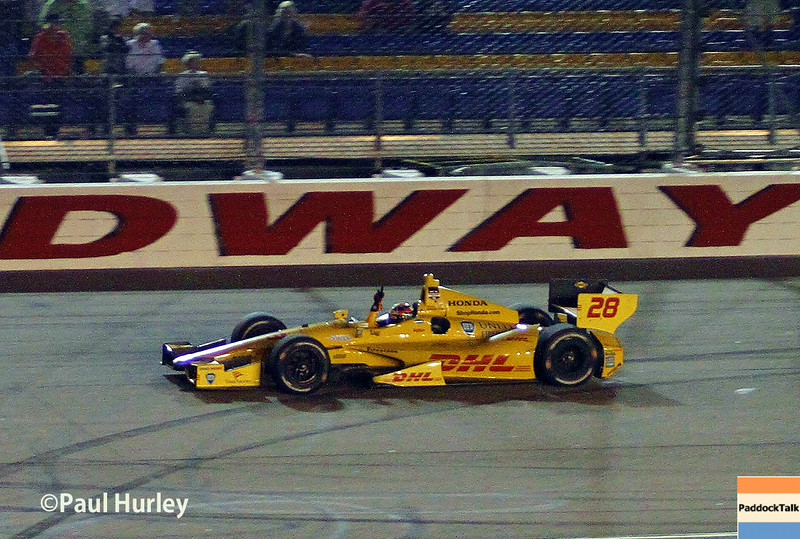 Ryan Hunter-Reay has won the IndyCar race at Iowa.