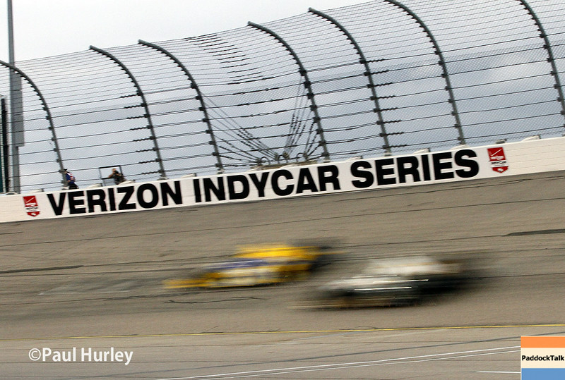 July 12: Turn 2 at the Iowa Corn Indy 300.