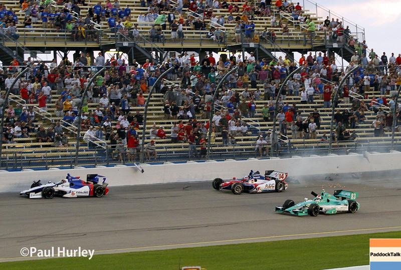 July 12: Mikhail Aleshin, Takuma Sato crash at the Iowa Corn Indy 300.