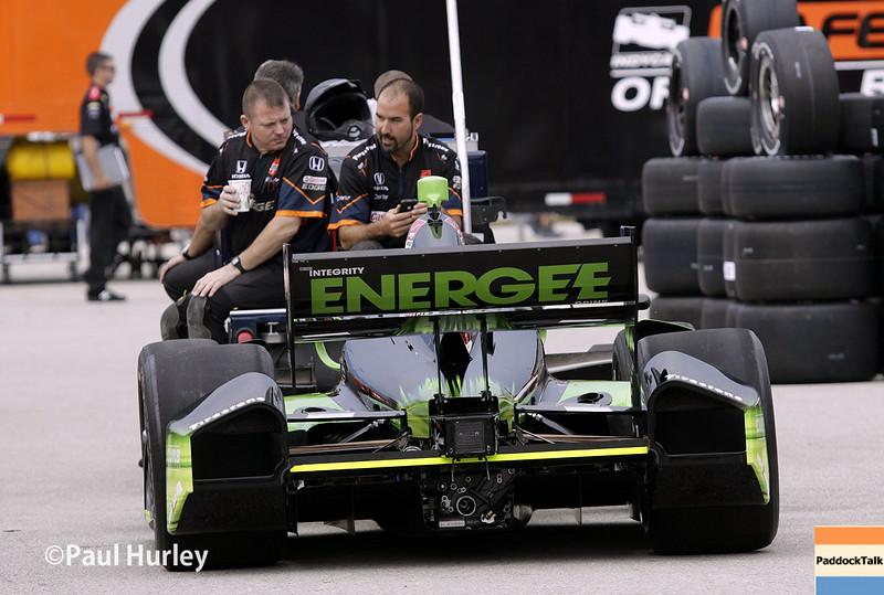 July 11: Jack Hawkworth's car and team at the Iowa Corn Indy 300.