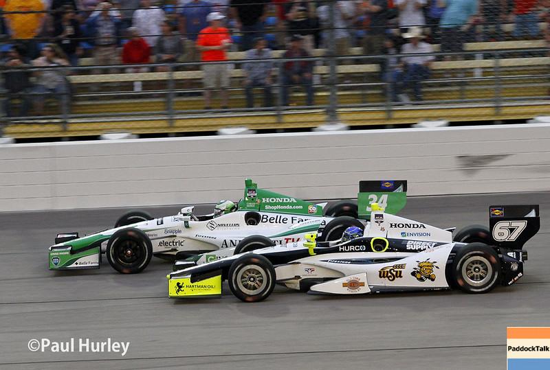 July 12: Carlos Munoz, Josef Newgarden, at the Iowa Corn Indy 300.