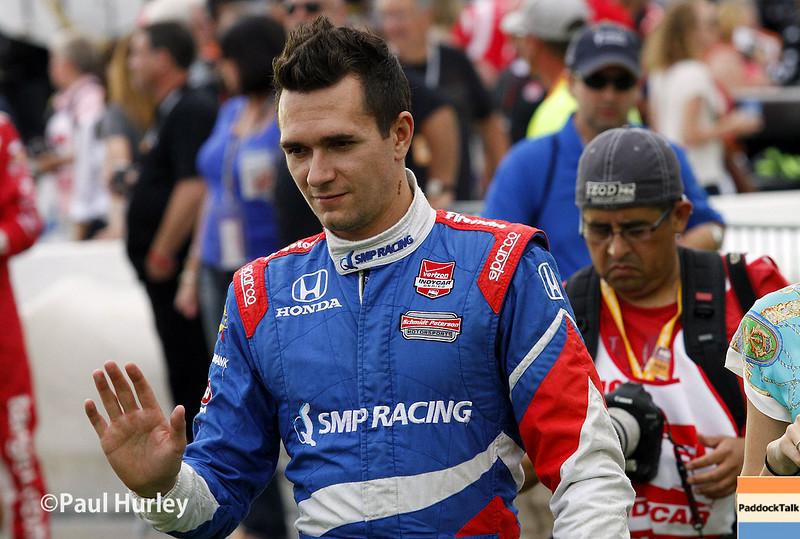 July 12: Mikhail Aleshin at the Iowa Corn Indy 300.