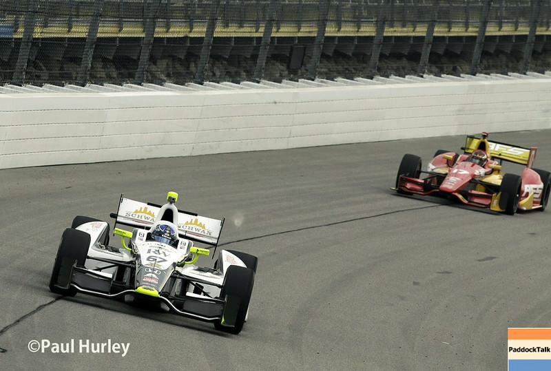 July 11: Josef Newgarden and Tony Kanaan at the Iowa Corn Indy 300.