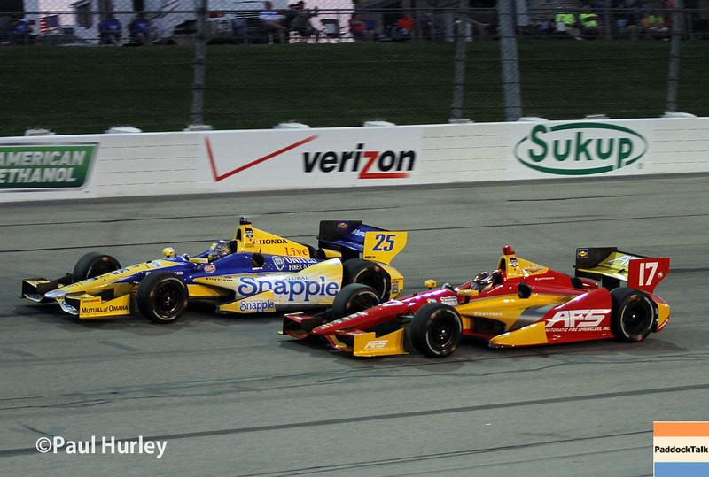 July 12: Marco Andretti, Sebastian Saavedra at the Iowa Corn Indy 300.