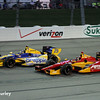 July 12: Marco Andretti, Sebastian Saavedra at the Iowa Corn Indy 300.