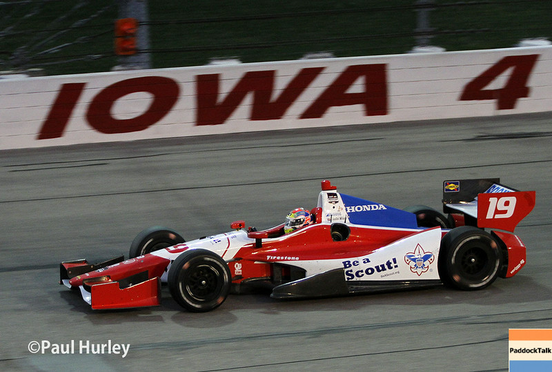 July 12: Justin Wilson at the Iowa Corn Indy 300.