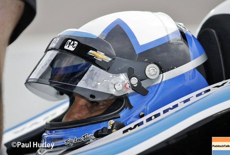 July 11: Juan Montoya at the Iowa Corn Indy 300.